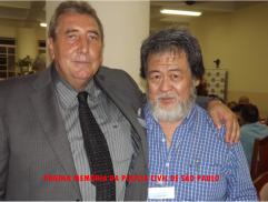 1º Encontro da Velha Guarda da Polícia Civil do Estado de São Paulo, em 25/10/13. Delegado de Polícia Paulo Roberto de Queiroz Motta e Investigador Armando Mizutani, à 37 anos atrás trabalharam juntos na DISCCPAT- DEIC.
