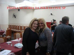 """1º Encontro de Confraternização da """"Velha Guarda"""" da Polícia Civil do Estado de São Paulo, no Restaurante Fuentes, em 25/10/13. Investigadora Tania Nastri e Escrivã Lia Grossi."""