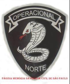 Dístico da equipe Operacional da Seccional Norte.