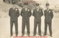 """Integrantes da extinta Guarda Civil do Estado de São Paulo, na década de 60. À esquerda Adhemar Augusto Pereira """"Fininho 1, in memorian""""."""