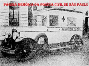 Ambulância da Assistência Policial, na década de 20.