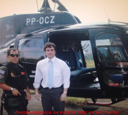 Pelicano do SAT- Serviço Aero Tático- DEIC, Delegados Diego e Fábio Coan Sampaio.