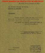 Curiosa e enigmática Circular do Delegado Chefe do Serviço Secreto Arnaldo de Camargo Pires, aos Delegados de Polícia Regionais do Estado de São Paulo, datada de 27 de novembro de 1.953.