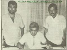 Investigador de Polícia Lécio Bueno e integrantes da Apolo 58 da DISCCPAT- DEIC, década de 80.
