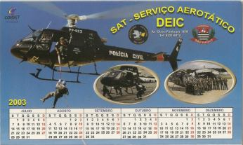 Calendário do SAT (ano de 2003).