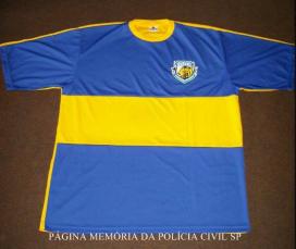 Camiseta do uniforme da forte equipe do GOE de Santos, usada no campeonato de futebol de praia promovido pelo Sindicato dos Funcionários da Polícia Civil de Santos e Região em 2006. O técnico do time foi o Investigador de Polícia do DEINTER 6, Orlando Rollo.