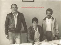 Equipe da antiga 3ª Delegacia Furto de Fios- DISCCPAT- DEIC, atual DIVECAR, início da década de 80. Investigadores de Polícia Cypriano R Santos, Luizinho (Chefe) e Santana.