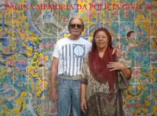O casal de Investigadores de Polícia da DISCCPAT, nas décadas de 70, 80 e 90, Buttes e Nerei Buttes (aposentados), em recente foto em Teerã, no Palácio Golestan.