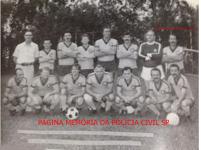 Equipe de futebol do DOPS, década de 70. agachados a partir da esquerda: Delegados 1º (?), 2º Nathan Rozemblat, 4º Fleury, 5º Acrisio Soares, 6º Roberto João Julião Julião, de pé da direita para a esquerda, o 5º Milton Pereira Santos (foi um grande atleta, inclusive campeão de natação), 6º Moisés Cocito.