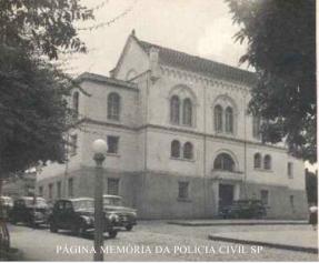 Antiga Delegacia de Polícia do Município de São Carlos/SP (vista lateral), em 1957.