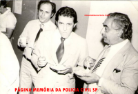 Os saudosos Delegados de Polícia da DISCCPAT- DEIC, Jair Cesário da Silva, Edson Reis Longhi e Gabriel Jano, na década de 70.