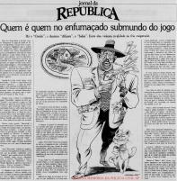"""Reportagem sobre os """"chefões"""" do jogo do bicho em São Paulo. Matéria do Jornal da República de 31 de outubro em 1.979."""