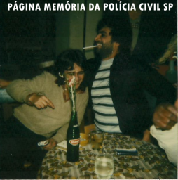 "Investigador de Polícia da Delegacia de Roubos, Welington Vieira, ""Mechinha"", ""in memoriam"". (foto de 1.981 no Birosca da Amaral Gurgel)."
