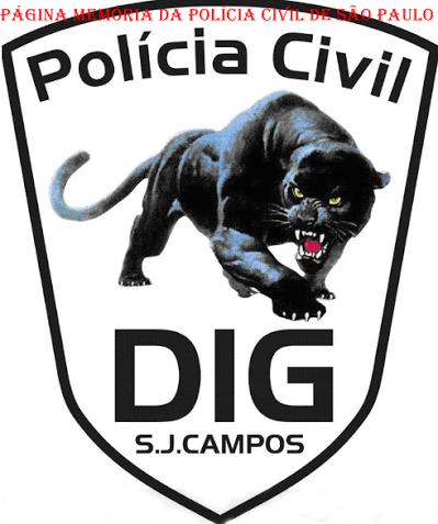 Dístico da DIG- Delegacia de Investigações Gerais de São José dos Campos.