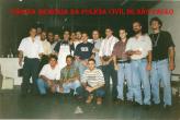 Grupo 30 do GARRA, em 1.996. Delegado Emídio, Investigadores Marcelo 13, Domingos Antonio B. Teixeira , Paulo, Fabinho, Delegado Olin, Makoto e Edú Borges..