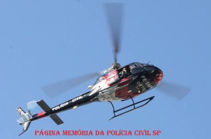 Helicóptero Pelicano 5 do SAT- Serviço Aero- Tático do DEIC.