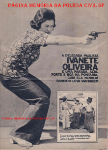 Primeira Delegada de Polícia do Estado de São Paulo Ivanete Oliveira Velloso, Revista Fatos e Fotos Gente, Setembro de 1.975. (enviado pela filha Agente de Telecomunicações Eliane Oliveira Velloso.