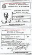 Carteira Funcional de Investigador de Polícia, década de 80.