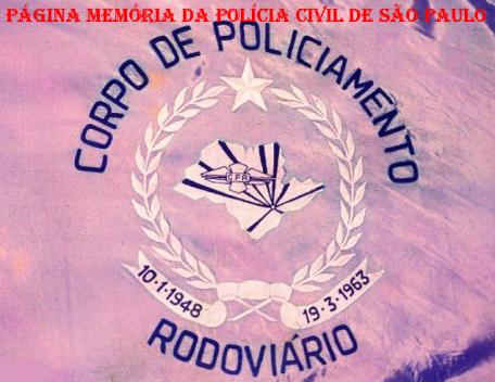 Flâmula do extinto Corpo de Policiamento Rodoviário do Estado de São Paulo.