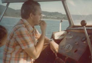 Investigador Mauricio Rebouças, da 1ª Delegacia de Roubos do DEIC, em 1.978.