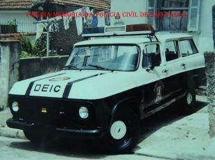 Viatura Chevrolet Veraneio, da Delegacia de Roubos- DISCCPAT- DEIC (Kilo), na década de 80.