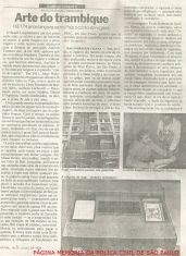 """Reportagem da Revista Afinal com o título """"Arte do trambique"""", em que o Investigador da Delegacia de Estelionato do DEIC, Paulo Roberto de Queiroz Motta (hoje Delegado no DEINTER 6), é entrevistado sobre o tema, em 1.988."""