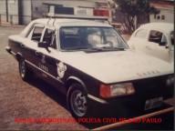 Viatura GM- Opala do GARRA, da década de 80. (acervo do Investigador Ricardo Gomiero).
