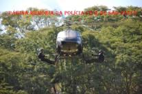 Demonstração de rapel de aeronave feita por operacionais do Grupo 30 do GOE/DECAP na cidade de Ribeirão Preto. (acervo dlo Delegado de Polícia do GARRA/DEIC Alexandre P. de Oliveira).