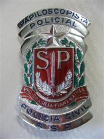 Distintivo de Papiloscopista Policial.