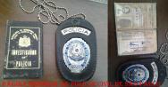 A lendária Carteira Preta e Distintivo do Investigador de Polícia Nilton Carvalho, assinada pelo então Delegado Geral de Polícia Joaquim Humberto de Moraes Novaes, em 1.976.