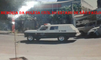 Viatura Chevrolet - Camburão, da década de 70.