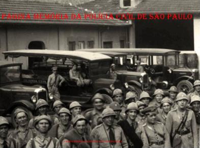 Viaturas da extinta Guarda Civil do Estado de São Paulo e seus combatentes herois de 1.932.