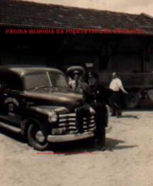 Famosa Viatura número 13 da Guarda Municipal de Jundiaí, na década de 50, com integrante da extinta Guarda Civil do Estado de São Paulo.