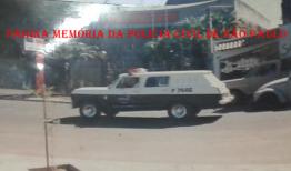 Viatura marca Chevrolet Veraneio da década de 80. (Acervo do Agente Policial Jecson Silveira Jr.)