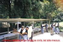 Equipe do GOE- Grupo de Operações Especiais do DEIC, em treino de armamento e tiro na CBC, em 1.998. Investigadores Ricardo Escorizza (Atualmente advogado), Pires, Junior; Delegado Alexandre, Clovis, Paulo e Xandão.