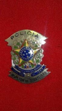 Distintivo de Inspetor de Quarteirão do Estado de São Paulo, com Brasão Estados Unidos do Brasil.