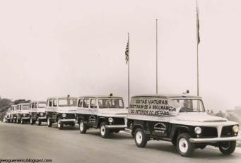 Entrega de viaturas Rural Willis, na década de 60.