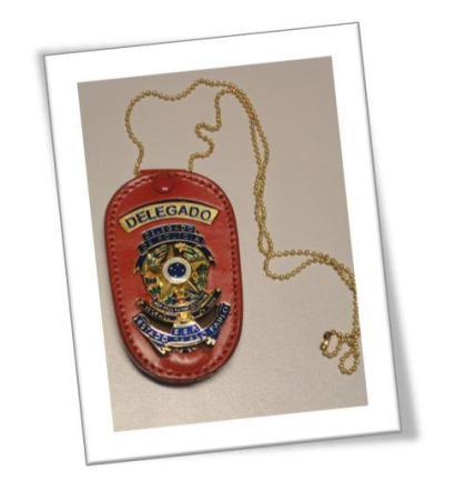 Distintivo de Delegado de Polícia.