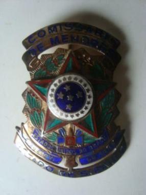 Antigo distintivo de Comissário de Menores de São Paulo.