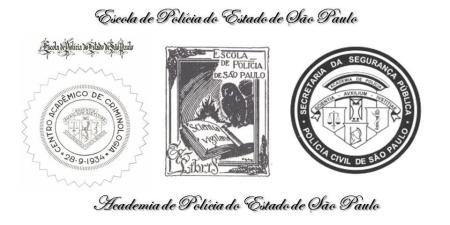 A evolução dos díticos da Academia de Polícia de São Paulo.