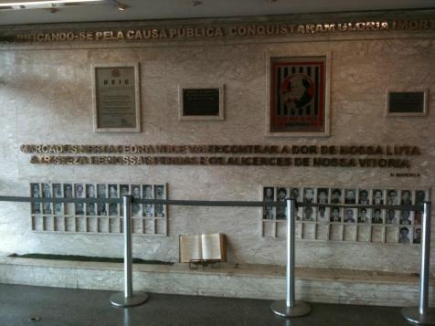 Galeria de Honra dos Policiais Civis do Deic que tombaram em serviço (átrio do Deic).