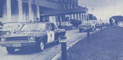 Viatura Piloto da Diretoria do DEIC, década de 70 (Palácio dos Bandeirantes).