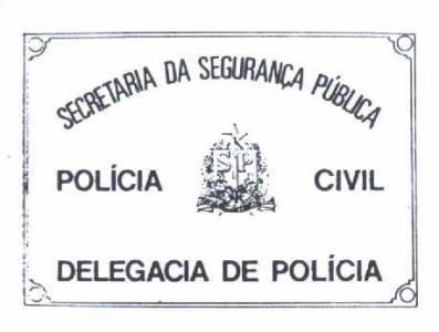 Modelo de placa das antigas Delegacias de Polícia (Delegacias de Município).