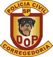 Dístico da Divisão de Operações Policiais da Corregedoria Geral da Polícia Civil.