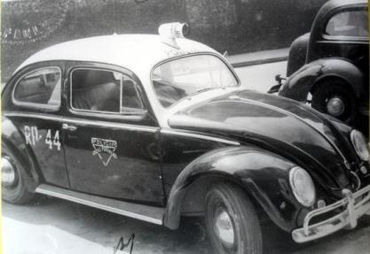 Rádio Patrulha Comandada por Delegados de Policia, na década de 60.
