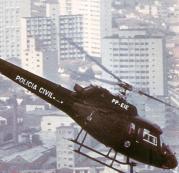 Policiais Civis em treinamento a bordo do Pelicano.