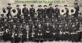 Banda da extinta Guarda Civil do Estado de São Paulo, com o Regente Rodrigues Alves, em 1.951.