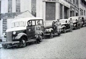 Viaturas da Rádio Patrulha da Polícia de São Paulo, década de 50.