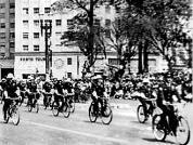 Guardas Civis ciclistas (anos 40).