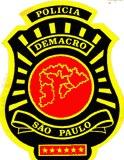 Dístico do DEMACRO. (Enviado pelo Delegado de Polícia Maurício Rezende do DHPP).
